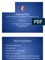 Ruby on Rails Garrick