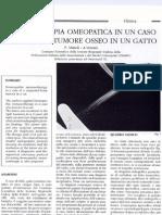 Immunoterapia Omeopatica - Tumore Osseo Del Gatto