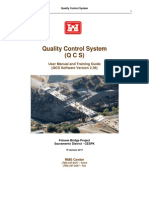 Quality Control System - User Manual and Training Guide