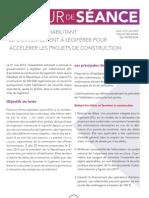 Projet de loi habilitant le gouvernement à légiférer pour accélérer les projets de construction