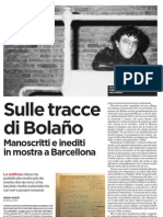 Sulle tracce di Bolaño. Manoscritti e inediti in mostra a Barcellona - l'Unità 31.05.2013