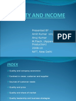 Quality and Income By-Amit Singh