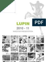 Lupin Investor Presentation -May 2011