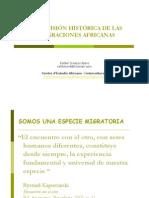 """Material de referencia de la sesión 8, """"Una visión histórica de las migraciones africanas"""". Por Rafael Crespo"""
