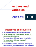 Objectives n Variables