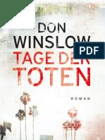 Don Winslow Tage Der Toten Auszug