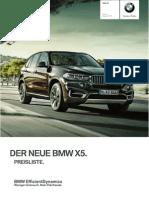 BMW X5 Preisliste 28052013