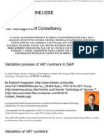 Validation Process of VAT Numbers in SAP _ Tax Management Consultancy