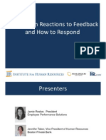 10 top reactions to Feedback