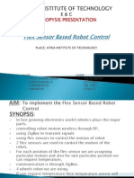Presentation flex sensor based robot