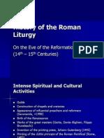 History of the Roman Liturgy