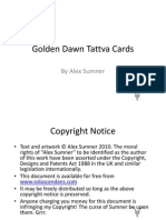 Golden Dawn Tattva Cards by Alex Sumner