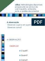 Metologias disponíveis de diagnose e prospecção