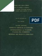 Teorie, Metodi, Verifiche empiriche in Economia Internazionale