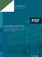 Considerazioni Finali 31 5 2013