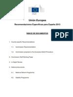 Recomendaciones Específicas para España 2013