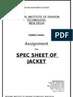 Jacket Spec Sheet By-Amit Singh