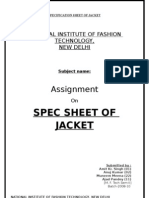 Jacket Spec Sheet By-Amit Singh