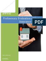 Home insurance product evaluation