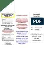 2009 Spring Beaver Day Registration Form