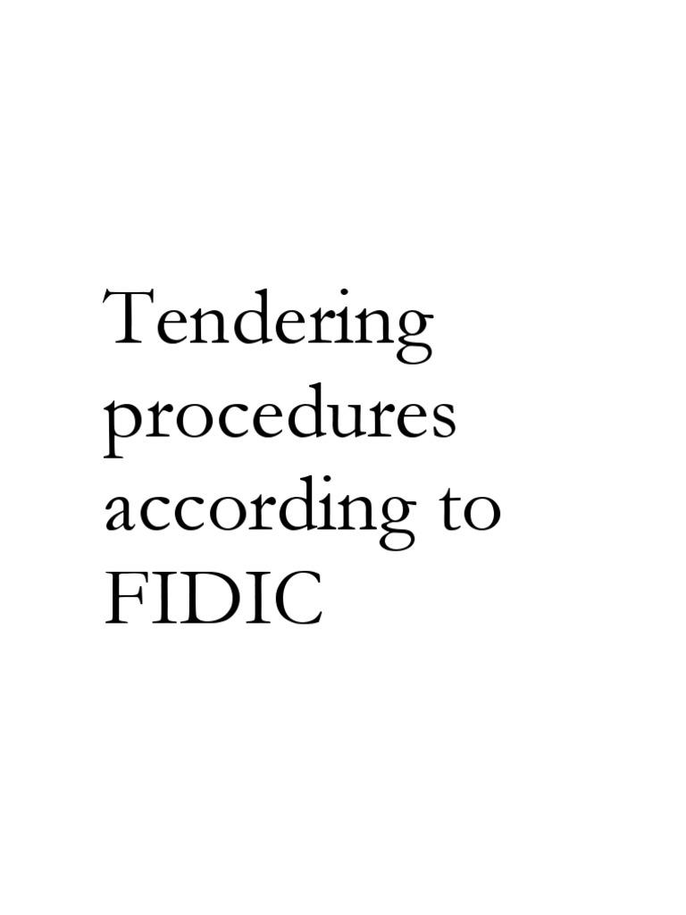 Fidic tendering procedures specification technical standard fidic tendering procedures specification technical standard procurement stopboris Gallery