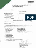 3-21-13 Affidavit of Mailing -Order Denying Motion to Reconsider