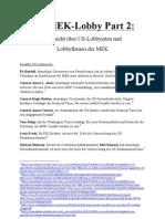 Die MEK-Lobby Part 2 - Übersicht über US-Lobbyisten und Lobbyfirmen der MEK 11.05.2012