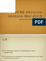Gcse Revision May13