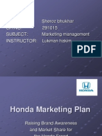 Sample Marketing Plan Honda