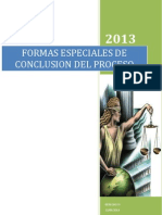 FORMAS ESPECIALES DE CONCLUSIÓN DEL PROCESO