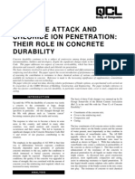 Sulphate Attack and Chloride Penetration