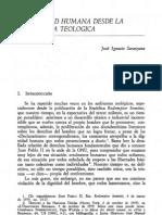 SARANYANA - La dignidad humana desde la perspectiva teológica - Persona y Derecho, 10 (1983)  195-208