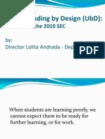 understanding by design  dr andrada