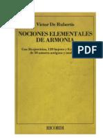 Nociones Elementales de Armonía VICTOR DE RUBERTIS