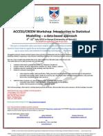 ACCESS/CREEM Statistical Modelling Workshop