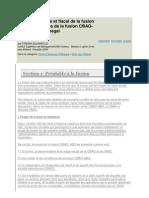 Regime Juridique Et Fiscal de La Fusion Des Societes