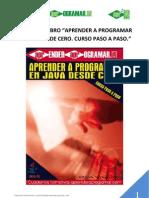 Indice Libro Aprender a Programar en Java Desde Cero Curso Pasoapaso