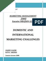 Domestic & International Marketing Challenges