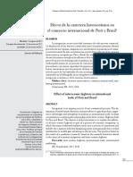 Efecto de La Carretera Interoceanica en El Comercio Internacional de Peru y Brasil