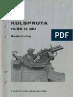 Kulspruta m36 Lv Dbl Manual
