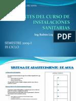 APUNTES DEL CURSO DE INSTALACIÓNES SANITARIAS