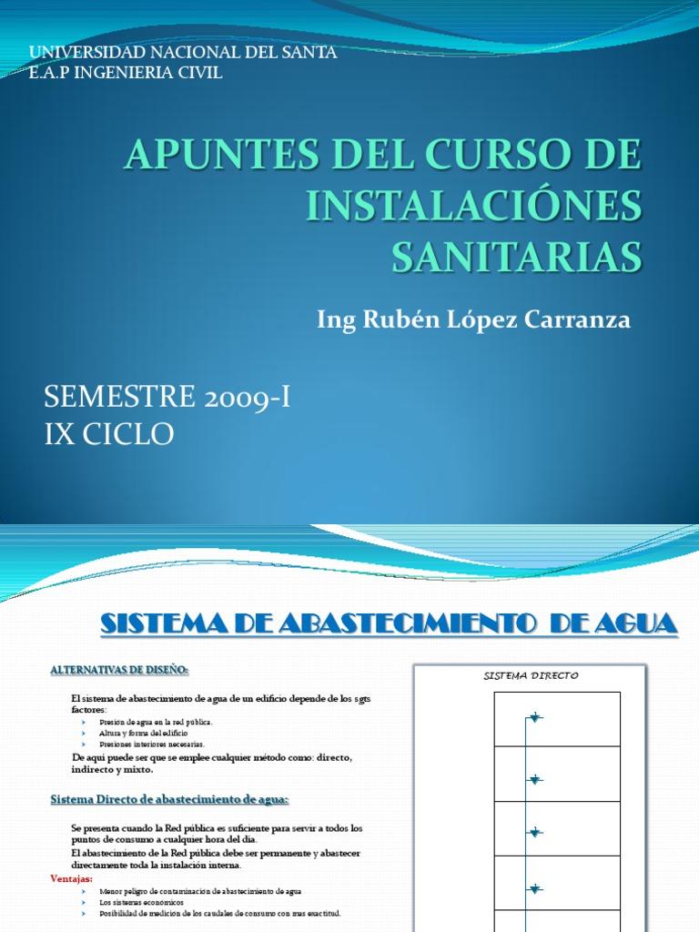 Apuntes del curso de instalaci nes sanitarias for Curso de diseno de interiores pdf