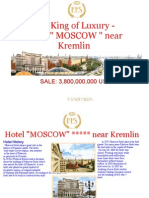 The KING of Luxury Hotel MOSCOW