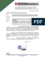 CONVOCATORIA A DOCENTES DEL ÁREA DE EDUCACIÓN FÍSICA Y DELEGADOS DE DEPORTE