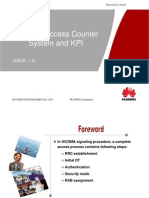 Huawei WCDMA Radio Network Access Counter and KPI