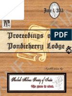 Proceedings of the Pondicherry Lodge - Volume 1 Issue 1