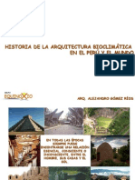 Historia de La Arq. Bioclimatica