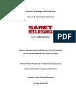 Diseño e Implementación del Sistema de Control Automático