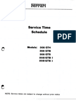 Service Time Schedule 308