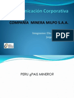 Final Presentación Comunicación Corporativa  Milpo